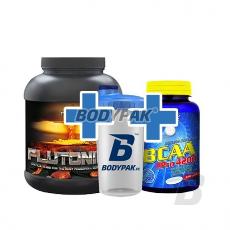 Peak Plutonium - 1000g + 50kaps. + Fitmax BCAA Pro 4200 - 240tabl. + Shaker Bodypak