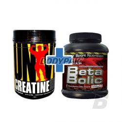 Universal Nutrition Creatine Powder - 500g + Hi Tec Beta Bolic - 500g