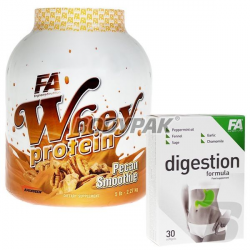Fitness Authority Whey Protein - 2270g + Digestion Formula – 30kaps.