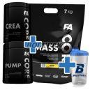 FA Nutrition Core MassCore - 7kg + FA Nutrition CORE CreaCORE - 350g + FA Nutrition CORE PumpCORE - 500g + Shaker Bodypak