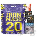 IHS Iron Mass - 7kg + CreaPlus - 250g + 1 sasz. High Kick 15g + 2 sasz. Thermo Pump 10g