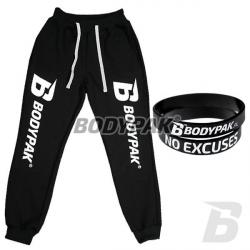 BODYPAK Spodnie [B] CZARNE - 1 szt. + BODYPAK opaska na rękę [czarna] - 1 szt.