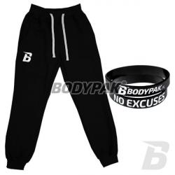 BODYPAK Spodnie z haftem [B] CZARNE - 1 szt. + BODYPAK opaska na rękę [czarna] - 1 szt.