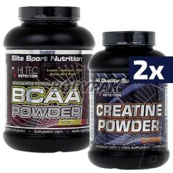 Hi Tec BCAA Powder - 500g  + 2x Hi Tec Creatine Powder - 250g
