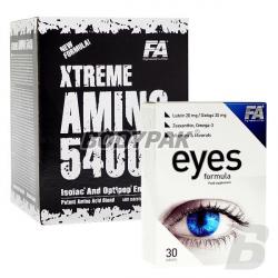 FA Nutrition Xtreme Amino 5400 - 400 tabl. + FA Nutrition Eyes Formula - 30 tabl. [GRATIS]