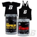 FA Xtreme Napalm Loaded - 1kg + Xtreme Detonator - 500g + T-Shirt BODYPAK Man Czarny - 1 szt. + BODYPAK Tank Top czarny - 1 szt.