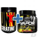 Universal Nutrition Creatine Powder - 500g + MuscleTech naNO Vapor Performance Series  - 477g.