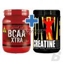 Universal Nutrition Creatine Powder - 500g + Activlab BCAA Xtra - 500g