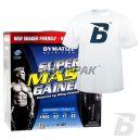Dymatize Super Mass Gainer - 5443g  + BODYPAK - T-Shirt BODYPAK MAN BIAŁY [GRATIS]