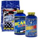 FitMax BCAA Pro 4200 - 240 tabl. + Kreatyna Creapure - 600g + Pure American - 750g