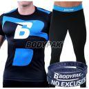 BODYPAK T-shirt kompresyjny B-Boy [KEEP TRAINING HARD] + Męskie legginsy KEEP TRAINING HARD + Opaska na rękę NO EXCUSES [GRATIS]