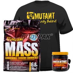 PVL Mutant Mass - 6,8kg + PVL Creakong - 300g + PVL T-Shirt MUTANT BLACK (nowa jakość!) - 1 szt. [GRATIS]