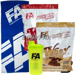 2x FA Nutrition Whey Protein - 908g + FA Shaker [ZIELONY] - 1 szt. [GRATIS] + FA ręcznik [NIEBIESKI] - 1 szt. [GRATIS]
